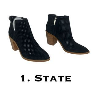 1. State Larocka Black Perforated Booties Size 9M